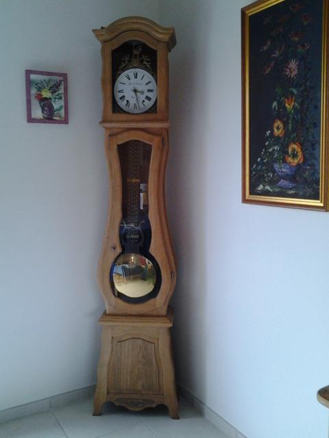 horloge décapage bois